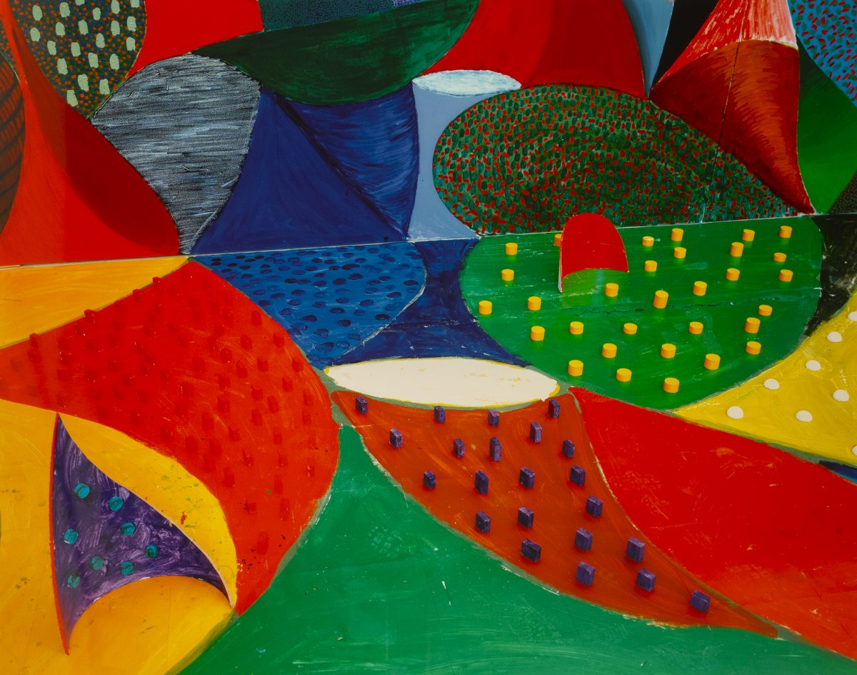 David Hockney  - Fifth Detail, Snails Space March 27 1995