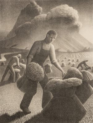 Grant Wood - Approaching Storm