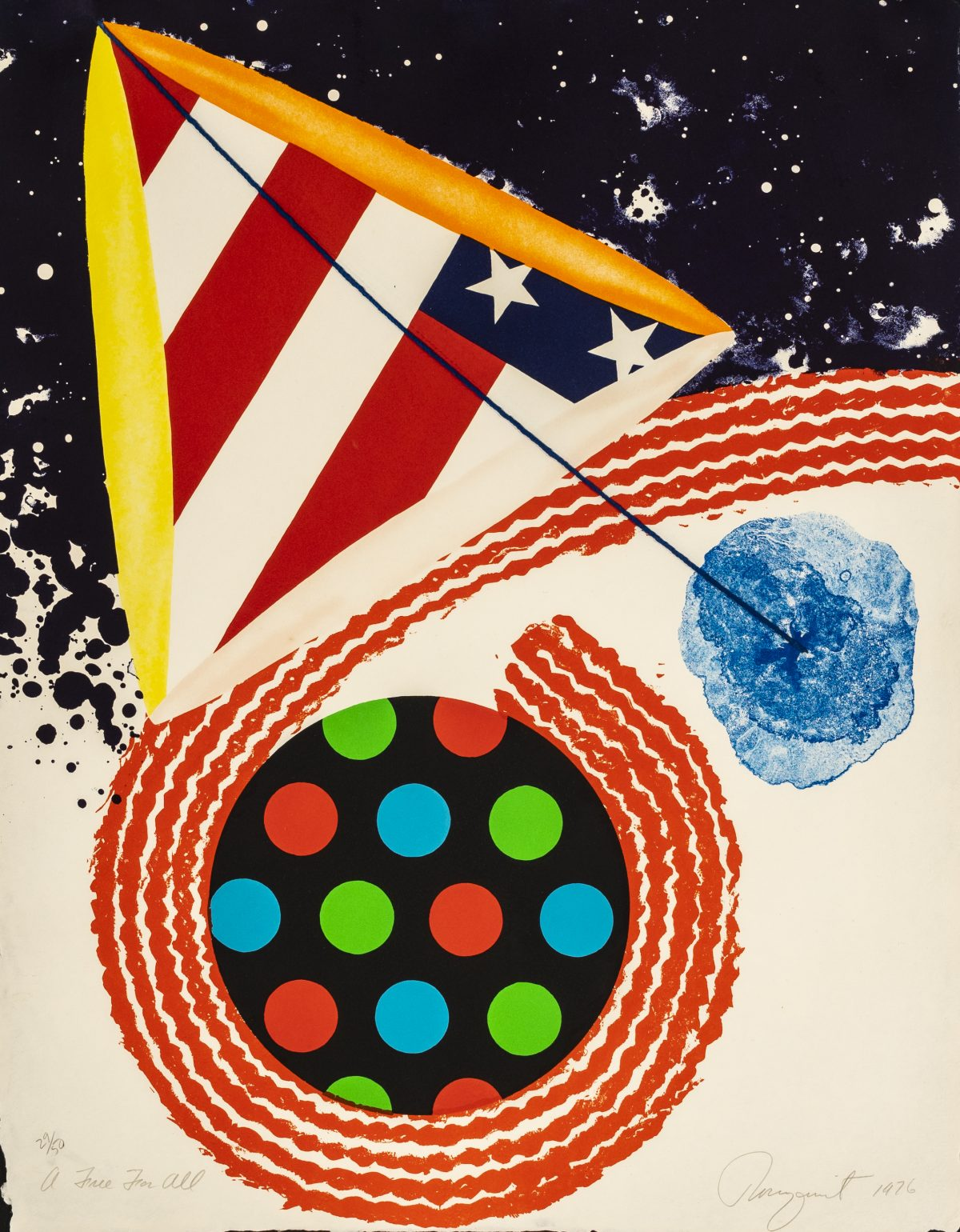 "James Rosenquist - A Free For All (from ""An American Portrait, 1776-1976"")"