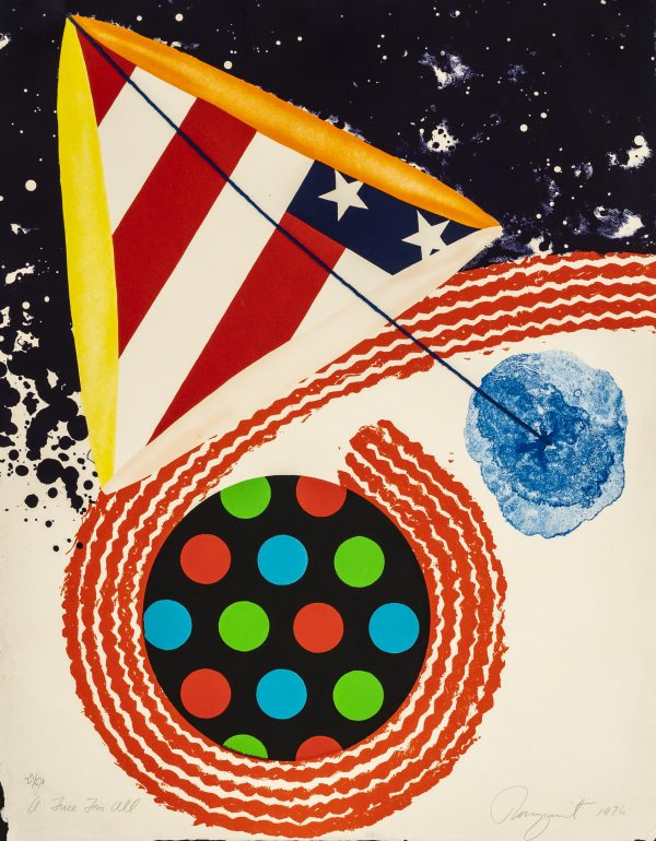 """James Rosenquist - A Free For All (from """"An American Portrait, 1776-1976"""")"""
