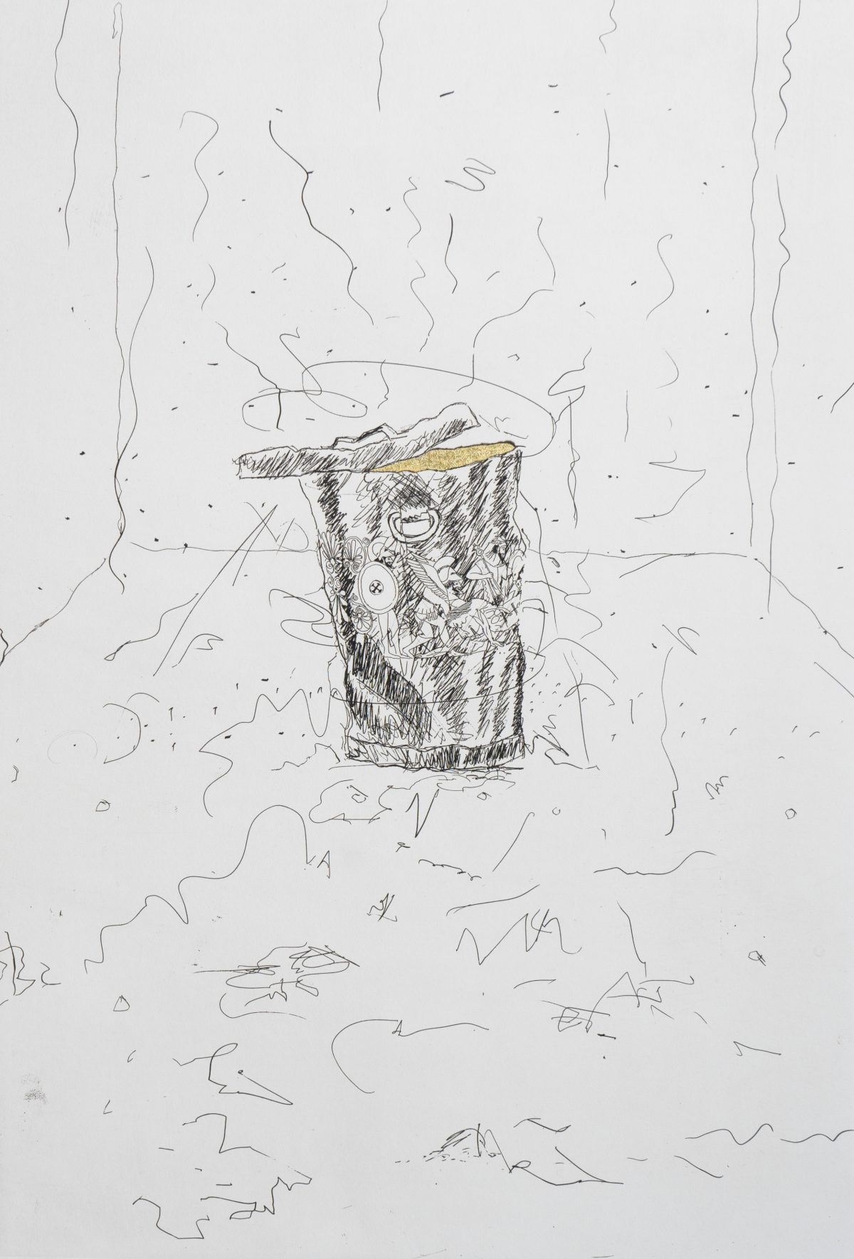James Rosenquist - Golden Cut Rectangle Calyx Krater