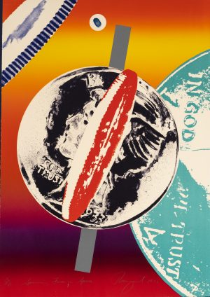 James Rosenquist - Spinning Faces in Space