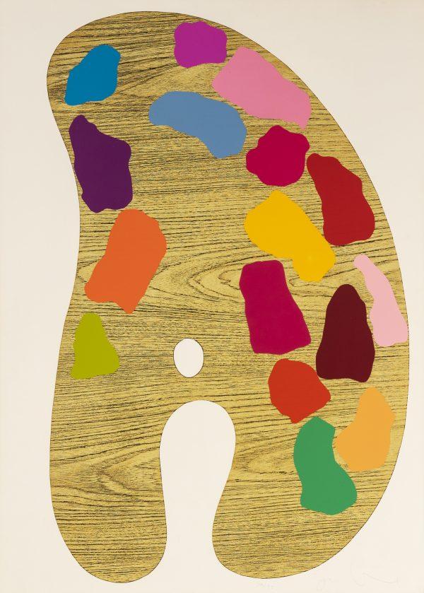"""Jim Dine - Plate 2, from """"4 Palettes"""""""