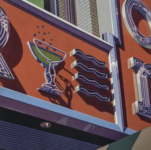 """Robert Cottingham - Champagne, from the portfolio """"American Signs"""""""