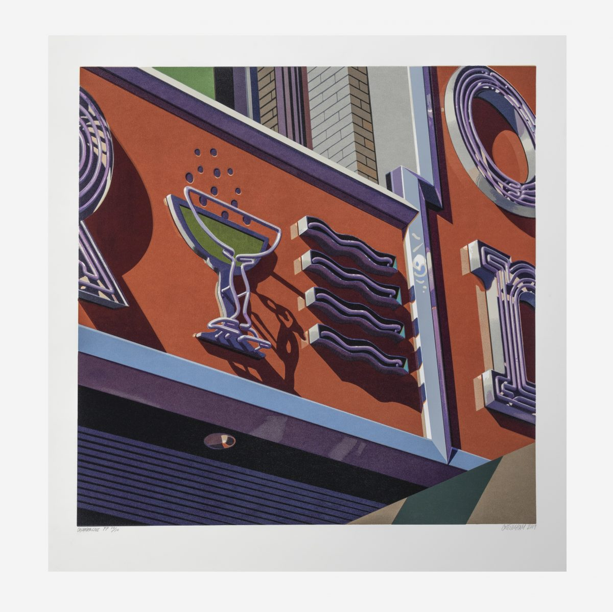"Robert Cottingham - Champagne, from the portfolio ""American Signs"""