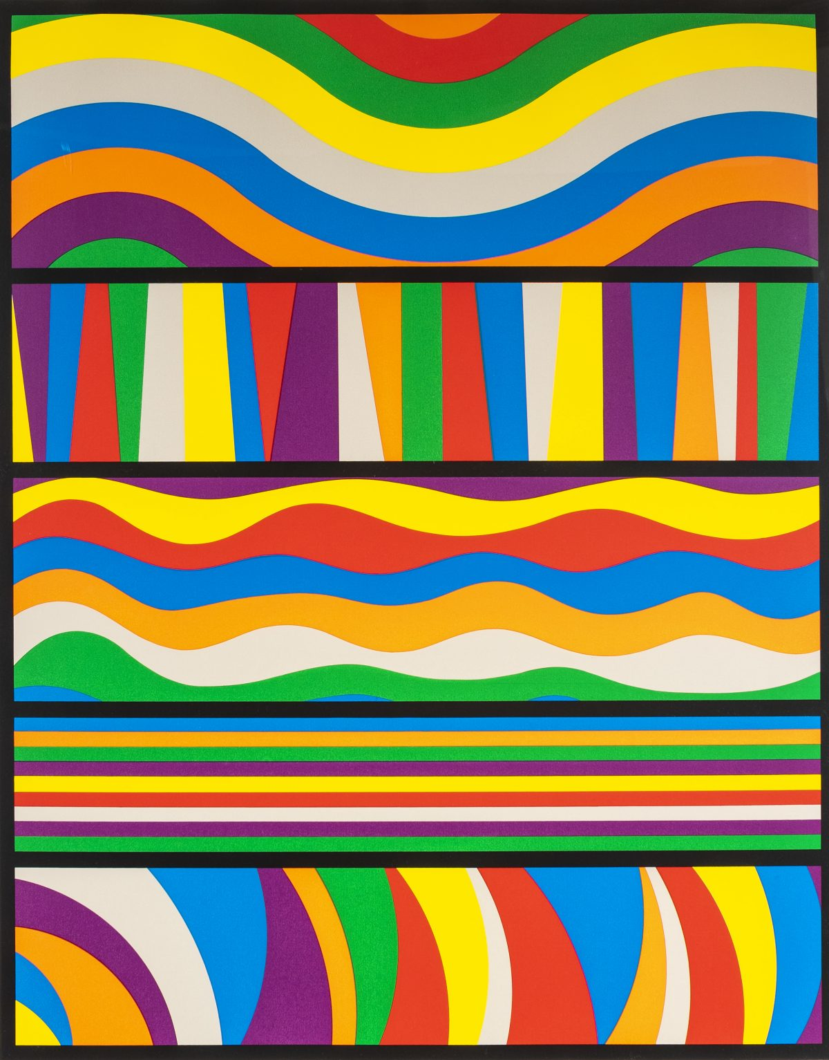 Sol LeWitt - Untitled (Waves and Lines)