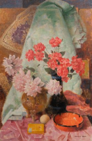 Bela Kontuly  - Still life with Flowers
