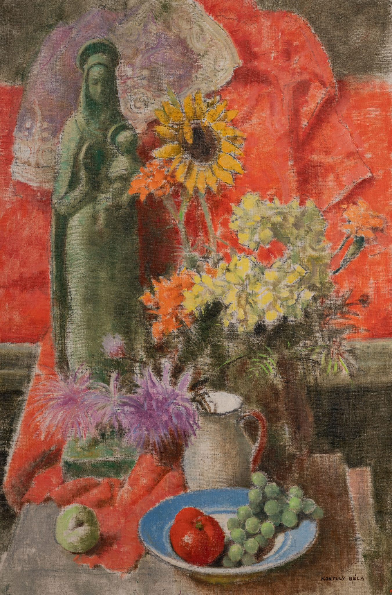 Bela Kontuly  - Still life with Madonna