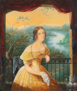 Carl Andreas Dahlstrom - Woman in a yellow dress