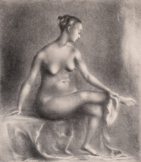 Clara Klinghoffer - Study of a Seated Nude