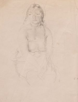 Clara Klinghoffer - Untitled (Young girl seated)