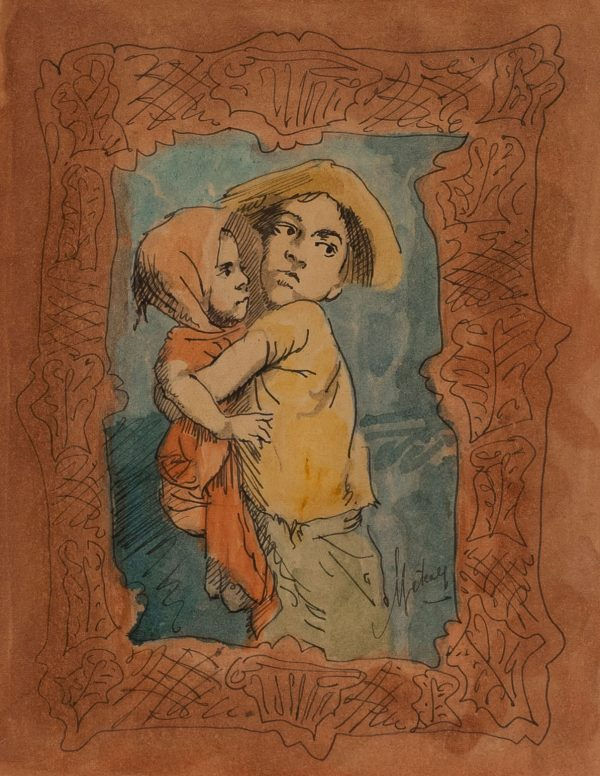 Conger Metcalf - Untitled (Portrait of two children)