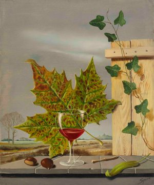 Georges Spiro - Still life with wineglass