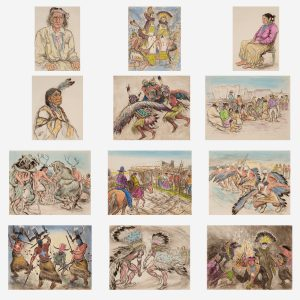 Ira Moskowitz - Indians of the Southwest, deluxe set of 12