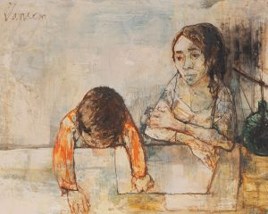 Jean Jansem - Mother and Child