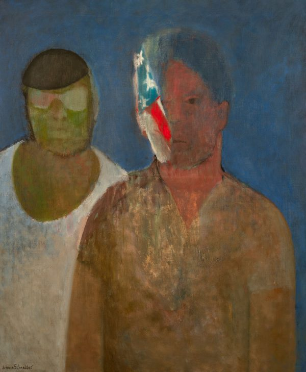 Jo Anne Schneider - Two Men and a Flag