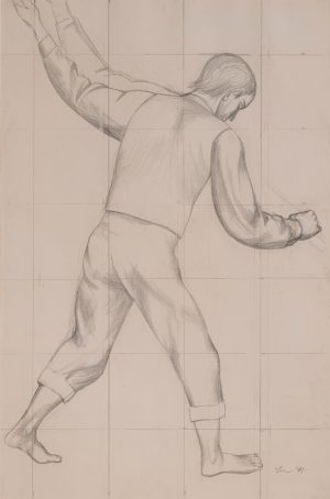Michael Loew - Untitled (Study for WPA mural)