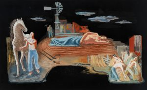 Michael Loew - WPA Mural Study (Agriculture)