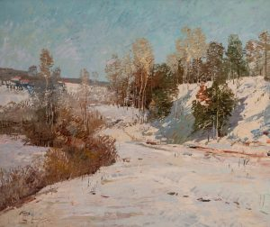 Ming Feng - Snow Path by the Lake