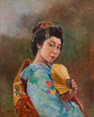 Pál Fried - Japanese Woman with Fan
