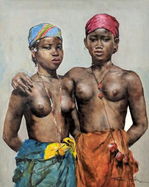 Pál Fried - Two African Women