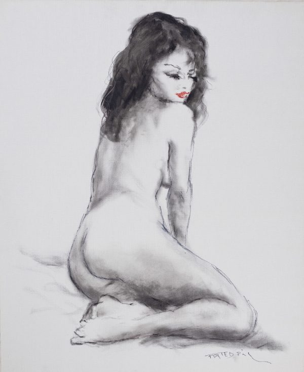 Pál Fried - Untitled (Nude black and white VI)