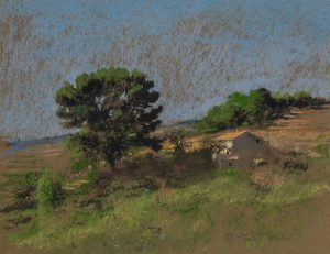 Pierre Roussel - Landscape with tree and farmhouse