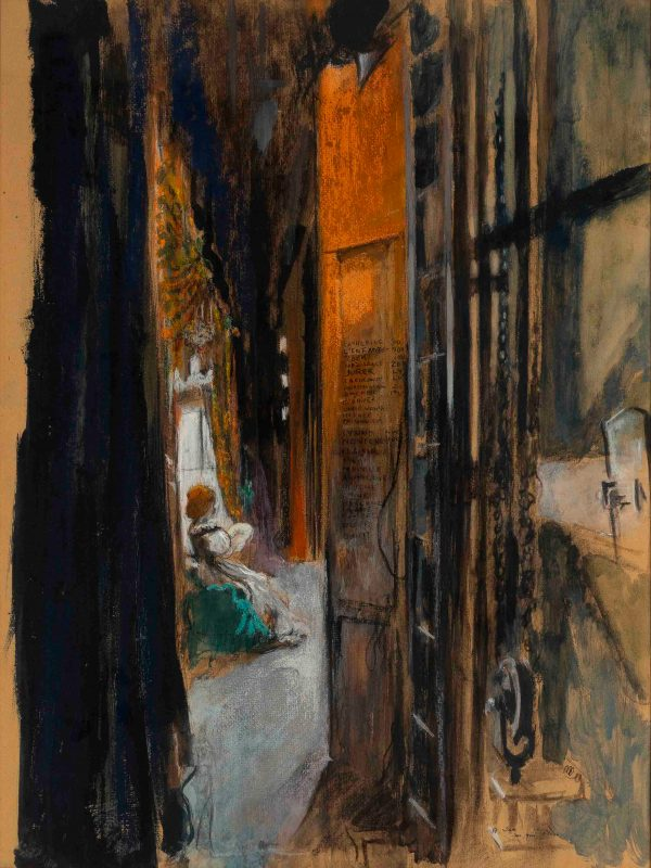 Pierre Roussel - Woman seated in an interior viewed from another room