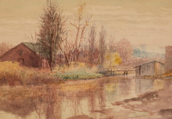 Richard LaBarre Goodwin - Autumn Landscape with Bridge
