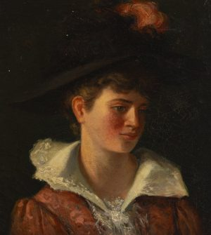 Unknown Artist - Portrait of a youth with a feathered cap