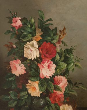Unknown Artist - Still life with flowers