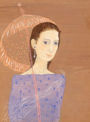 Unknown Artist - Woman with a parasol
