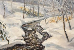 after Edward Willis Redfield - after Woodland Stream