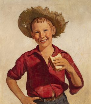 after Norman Rockwell - Country Boy