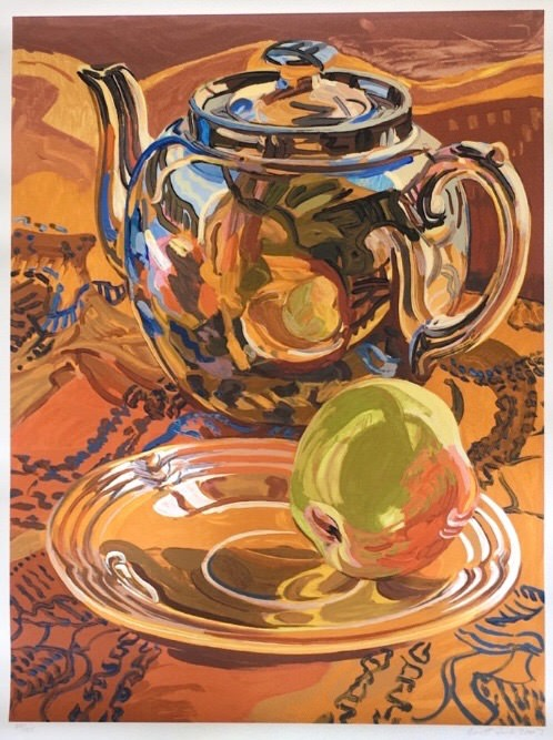 Janet Fish - Tea Pot and Apple