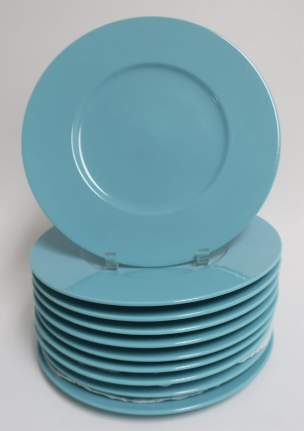 10 Turquoise Service Plates by Mikasa