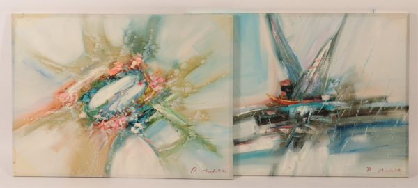 Group of Two B. Chadwick Abstracts, O/C