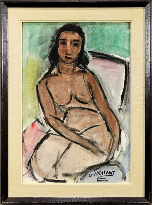 George Constant - Female Nude W/C on Paper