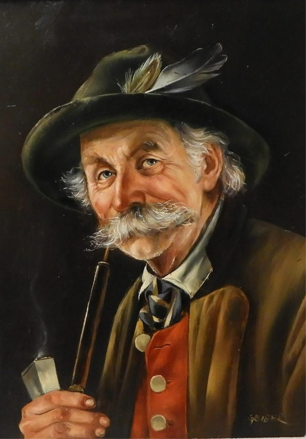 Manner of Otto Eichinger - Man with Pipe