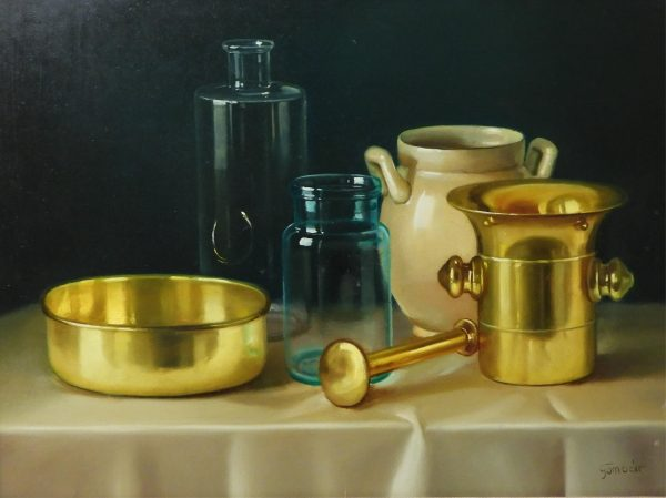 András Gombár - Still Life with Vessels