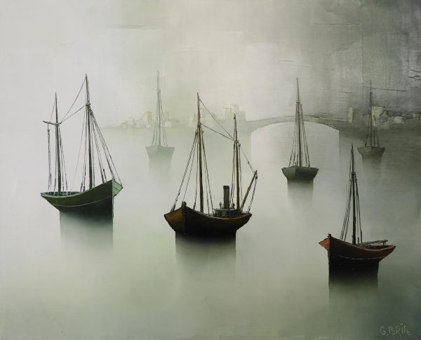 Gilbert Bria - Boats in the Mist