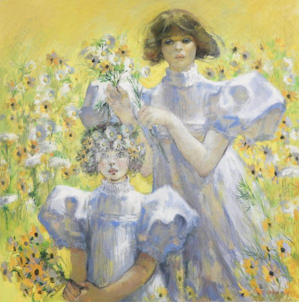 Mary Sarg Murphy - Gathering Daisies