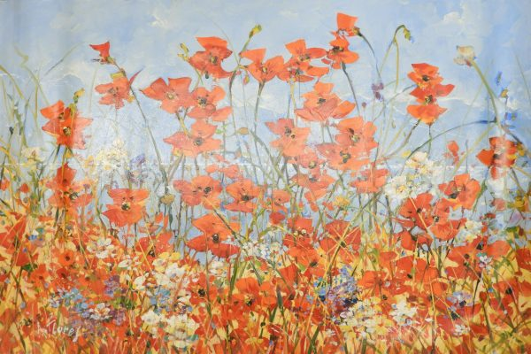 A. Flores -  Red Poppies in the Field