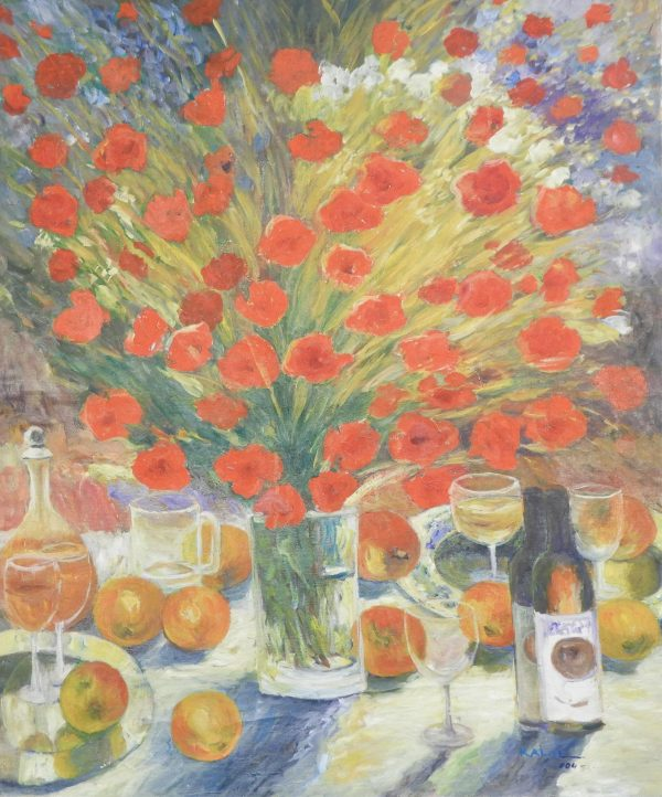Kalil - Poppies on the Table