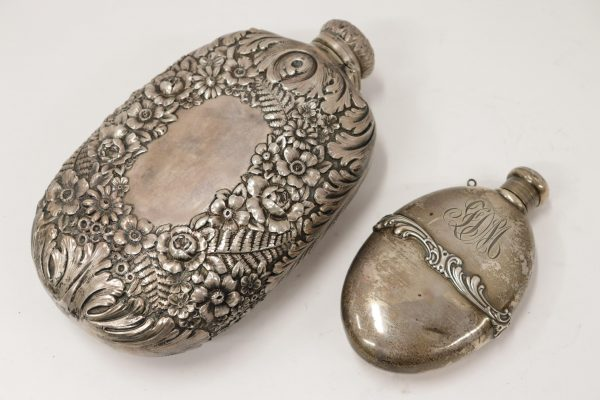 2 Sterling Silver Flasks by Tiffany & Co, Whiting