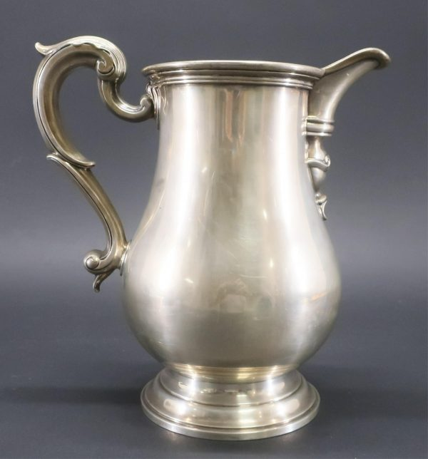 George III Style Sterling Silver Water Pitcher