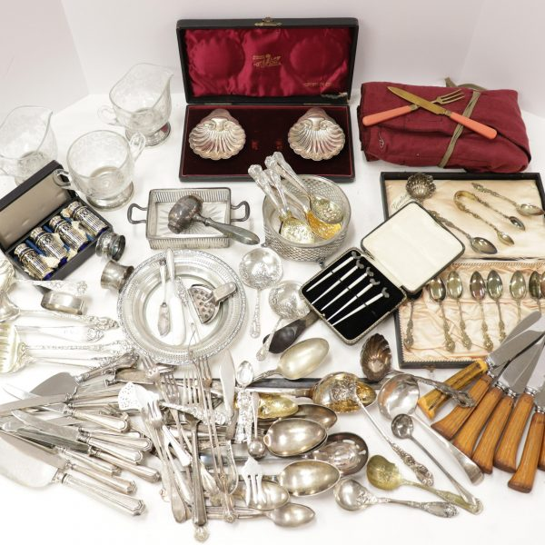 Group Sterling, .800 Silver & Plated Flatware