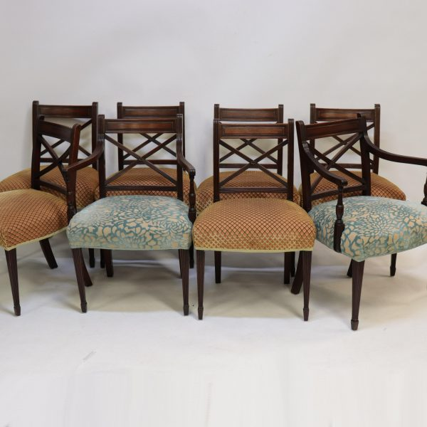 Attrib. Duncan Phyfe Mahogany Carved Dining Chairs