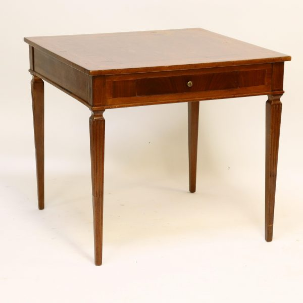 Italian Neoclassical Style Inlaid Wood Table
