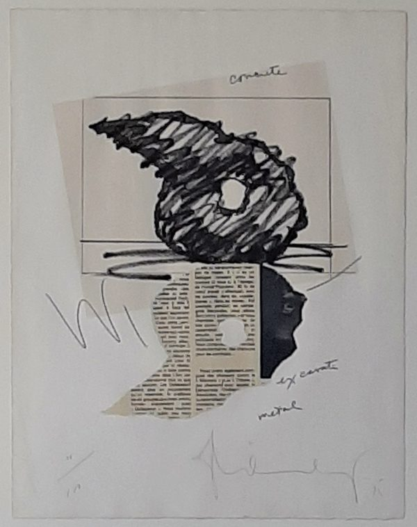 Claes Oldenburg - Study for a Sculpture in the Form of an inverted Q: above and below Ground